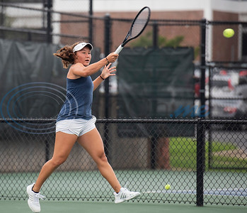 Dyane Barcena Del Bosque of Broward competes in the NJCAA Tennis Tournament at the JoAnn Medlock Murphy Tennis Center at Tyler Junior College on Tuesday May 7, 2019.  (Sarah A. Miller/Tyler Morning Telegraph)