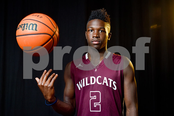 Javier Neal poses for a portrait at the Tyler Morning Telegraph in Tyler, Texas, on Tuesday, May 9, 2017. Javier is a junior at Whitehouse High School and is the All-East Texas Boys Basketball Player of the Year. (Chelsea Purgahn/Tyler Morning Telegraph)