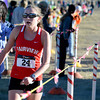 """Fairview High School junior Isabelle Kennedy crosses the finish line 3rd during the varsity girls 5A Region 3 State Regionals at the North Area Athletic Complex in Arvada on Wednesday, Oct. 17. For more photos of the race go to  <a href=""""http://www.dailycamera.com"""">http://www.dailycamera.com</a>"""