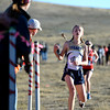 "Legacy High School sophomore Emma Gee crosses the finish line in second-place during the varsity girls 5A Region 3 State Regionals at the North Area Athletic Complex in Arvada on Wednesday, Oct. 17. For more photos of the race go to  <a href=""http://www.dailycamera.com"">http://www.dailycamera.com</a>"