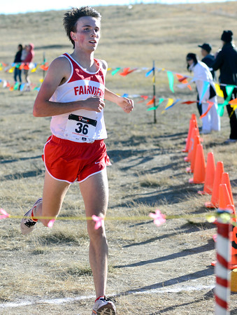 """during the 5A Region 3 State Regionals at the North Area Athletic Complex in Arvada on Wednesday, Oct. 17. For more photos of the race go to  <a href=""""http://www.dailycamera.com"""">http://www.dailycamera.com</a>"""