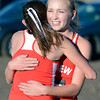 "Fairview High School's McKenna Payes, right, hugs teammate Isabelle Kennedy after finishing the varsity girls 5A Region 3 State Regionals at the North Area Athletic Complex in Arvada on Wednesday, Oct. 17. For more photos of the race go to  <a href=""http://www.dailycamera.com"">http://www.dailycamera.com</a>"
