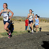 "Legacy High School's Melanie Nun, left, and Emma Gee lead the pack during the varsity girls 5A Region 3 State Regionals at the North Area Athletic Complex in Arvada on Wednesday, Oct. 17. For more photos of the race go to  <a href=""http://www.dailycamera.com"">http://www.dailycamera.com</a>"