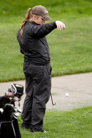 20110523_RMH_GLO_CARLSON_DROP.JPG Fairview's Amy Carlson makes a drop on the 17th fairway during the girls Class 5A State Golf Championship at Lone Tree Golf Club in Highlands Ranch on Tuesday, May 24, 2011. (Richard M. Hackett/Times-Call)