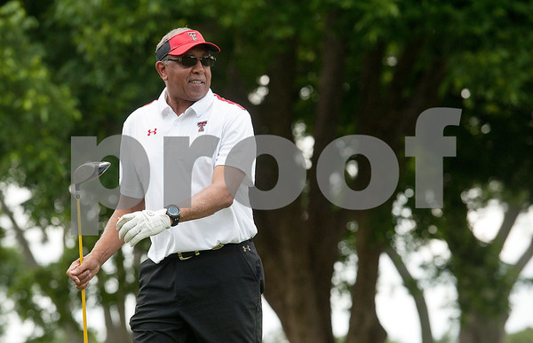 photo by Sarah A. Miller/Tyler Morning Telegraph  Texas Tech men's basketball head coach Tubby Smith watches his golf ball land after teeing during the Texas Tech J. L. Gulley, Jr. Annual Tyler Golf Tournament held at Willow Brook Country Club in Tyler Monday. The event raises scholarship funds for students.