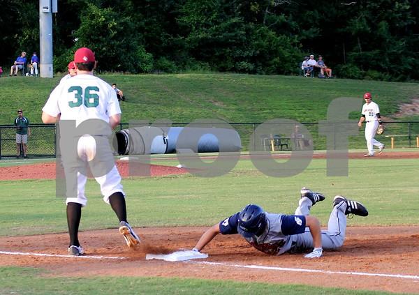 Linden Black Niko Buentello takes a pick off throw