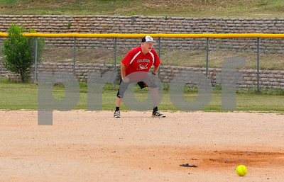 Ronny Christie, 68, concentrates during a Tyler Senior Softball League practice on Sunday, June 3. The league consists of 5 teams and practices at Lindsey Park in Tyler. (Jessica T. Payne/Tyler Paper)