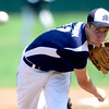 Manhattan's Spencer Anderson pitches against Fairview during their game in Boulder, Colorado July 13, 2012.  DAILY CAMERA MARK LEFFINGWELL