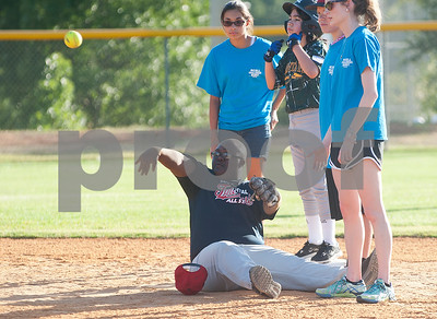 Rose Capital Tyler East Challenger Division player Tyronw Battise throws the ball from second base during their game against Santa Fe in the 46th annual Texas East State Little League Tournament Saturday July 18, 2015 at Faulkner Park in Tyler, Texas. This is the13th year Tyler has hosted the event. Challenger Division teams have both male and female players from ages 4 through high school students who have mental or physical special needs.  (photo by Sarah A. Miller/Tyler Morning Telegraph)