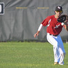 Ironman Chase Knodle fields a blooper in center field. Eric Bonzar — The Morning Journal