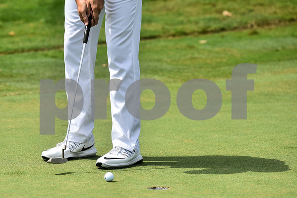 Cory Donnell putts during round one of the 48th Tanos Exploration II / Patterson-UTI Drilling Texas State Open at The Cascades Club in Tyler, Texas, on Tuesday, July 31, 2018. The 72-hole stroke play event will consist of 156 professionals and amateurs competing for a $200,000 projected purse. (Chelsea Purgahn/Tyler Morning Telegraph)