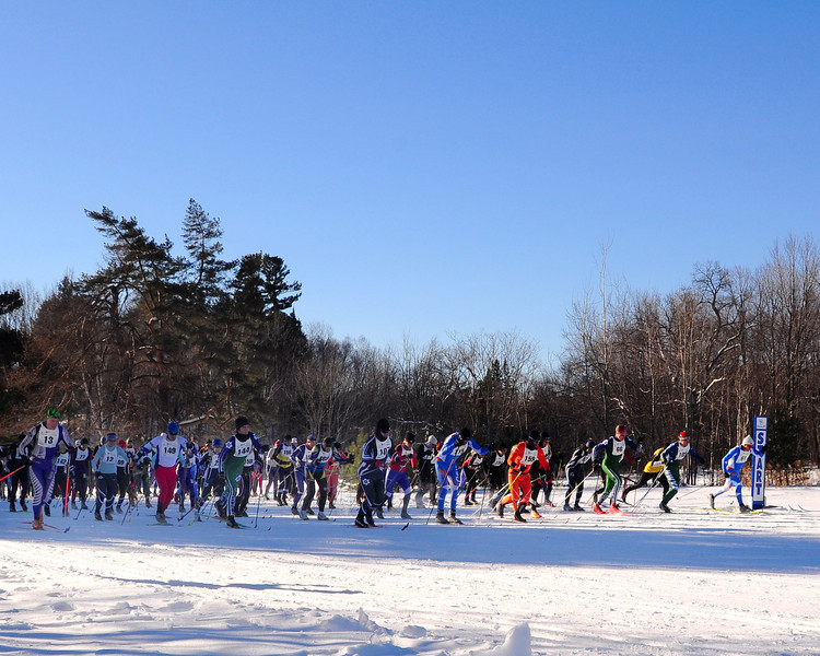 The 7th Annual White Mountain Classic 30K ski race, hosted by the Jackson Ski Touring Foundation, was held on January 22nd, 2011, in Jackson, NH. Over 200 competitors used the classic cross-country ski technique in a 30 kilometer (18.64 miles) marathon on the trail systems in and around Jackson Village.