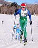 Scott Magnan (#103), of Richmond, VT, stays just ahead of John Sakalowski, of Newton, MA, during The 7th Annual White Mountain Classic 30K ski race, which was hosted by the Jackson Ski Touring Foundation, on January 22nd, 2011, in Jackson, NH. Over 200 competitors used the classic cross-country ski technique in a 30 kilometer (18.64 miles) marathon on the trail systems in and around Jackson Village.