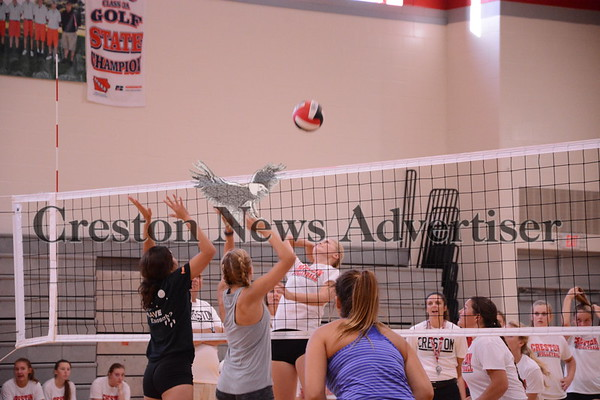 8-17 Creston-Lenox volleyball scrimmage