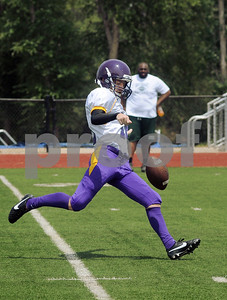 copyright 2012 Sarah A. Miller/Tyler Morning Telegraph  Texas College's kicker ???  Saturday afternoon during a scrimmage against Houston Southeast Prep at Mewbourne Field in Tyler. TC opens the season on Saturday, Aug. 25 against fourth-ranked (NAIA) St. Francis (Ind.) at Trinity Mother Frances Rose Stadium. The game kicks off at 2 p.m.