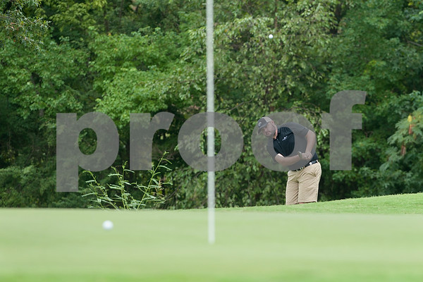 Chris Ewert of Tyler hits onto the 1st green during the Men's Club Championship at Hollytree Country Club Friday Aug. 21.   (Sarah A. Miller/Tyler Morning Telegraph)