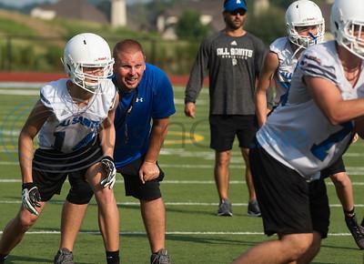 All Saints Episcopal School football practice on Friday Aug. 2, 2019.  (Sarah A. Miller/Tyler Morning Telegraph)
