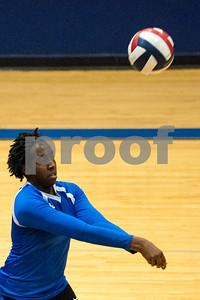 John Tyler sophomore Makia Moon (6) bumps the ball during a high school volleyball game at John Tyler High School in Tyler, Texas, on Tuesday, Aug. 22, 2017. (Chelsea Purgahn/Tyler Morning Telegraph)