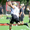 CU defensive back Isaac Archuleta catches a pass during practice at the University of Colorado in Boulder, Colorado August 23, 2012.  DAILY CAMERA MARK LEFFINGWELL