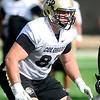 CU defensive tackle Will Pericak works out during practice at the University of Colorado in Boulder, Colorado August 23, 2012.  DAILY CAMERA MARK LEFFINGWELL
