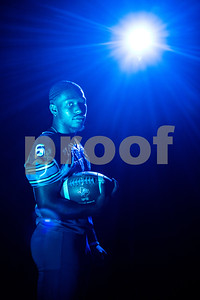 John Tyler running back Roderick Hawkins (6) at the Pigskin Preview photoshoot at Caldwell Auditorium in Tyler, Texas, on Wednesday, July 18, 2018. (Sarah A. Miller/Tyler Morning Telegraph)