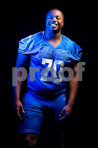 John Tyler offensive and defensive lineman Chance Billington (70) at the Pigskin Preview photoshoot at Caldwell Auditorium in Tyler, Texas, on Wednesday, July 18, 2018. (Sarah A. Miller/Tyler Morning Telegraph)