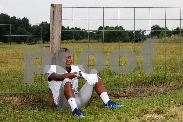 John Tyler's Michael Givens-Washington poses for a portrait at the Dorsey family ranch in Whitehouse, Texas, on Tuesday, Aug. 1, 2017. (Sarah Miller/Tyler Morning Telegraph)