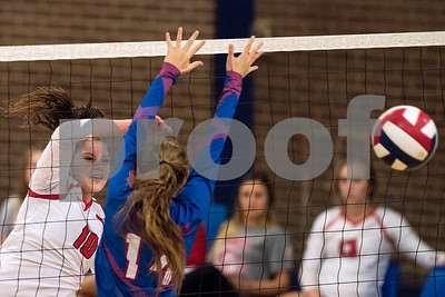 Van's Skylar Savage (11) spikes the ball during the Tyler Invitational volleyball tournament at John Tyler High School in Tyler, Texas, on Friday, Aug. 25, 2017. (Chelsea Purgahn/Tyler Morning Telegraph)