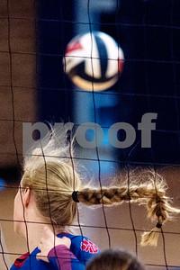Alba-Golden junior Ginny Carson (2) look where the ball went during the Tyler Invitational volleyball tournament at John Tyler High School in Tyler, Texas, on Friday, Aug. 25, 2017. (Chelsea Purgahn/Tyler Morning Telegraph)