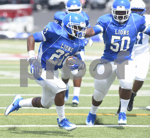 John Tyler High School's Cameron Grant carries the ball during their football game against Plano West Saturday August 27, 2016 at Christus Trinity Mother Frances Rose Stadium.  (Sarah A. Miller/Tyler Morning Telegraph)