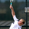 Legacy's Alec Jensea severs the ball during his match against Windsor's Cole Tomberlin at Legacy High School in Broomfield, Colorado August 28, 2012.  DAILY CAMERA MARK LEFFINGWELL