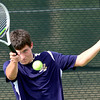 Legacy's Jesse Jacobson returns the ball during his match against Windsor's Stephan Wheeler at Legacy High School in Broomfield, Colorado August 28, 2012.  DAILY CAMERA MARK LEFFINGWELL