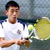 Legacy's Austin Phan returns the ball during his match against Windsor's Mark Gueswell at Legacy High School in Broomfield, Colorado August 28, 2012.  DAILY CAMERA MARK LEFFINGWELL