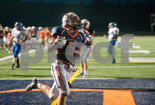 photo by Sarah A. Miller/Tyler Morning Telegraph  Brook Hill's sophomore running back Clayton Engel scores a touchdown Thursday night at home against Frankston High School during the Brook Hill Classic.