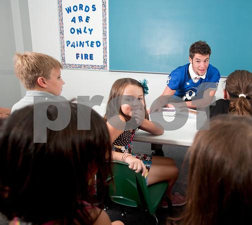 photo by Sarah A. Miller/Tyler Morning Telegraph  Grace Community School football player Kade Clayton