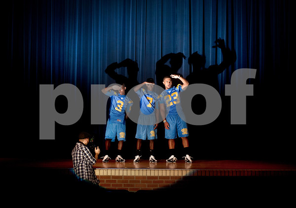 copyright 2012 Sarah A. Miller/Tyler Morning Telegraph  Chapel Hill players (3) JaMarcus ?? (7) Gabriel Robinson (23) Tre Allen come into the spotlight as their young team follows in the footsteps of the state championship winning 2011-2012 team.