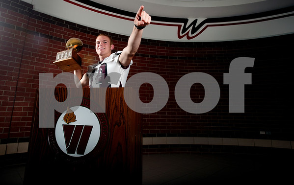 copyright 2012 Sarah A. Miller/Tyler Morning Telegraph  Whitehouse's Dylan Cantrell takes the award as one of the region's best wide receivers. Cantrell is also already committed to play at Texas Tech.