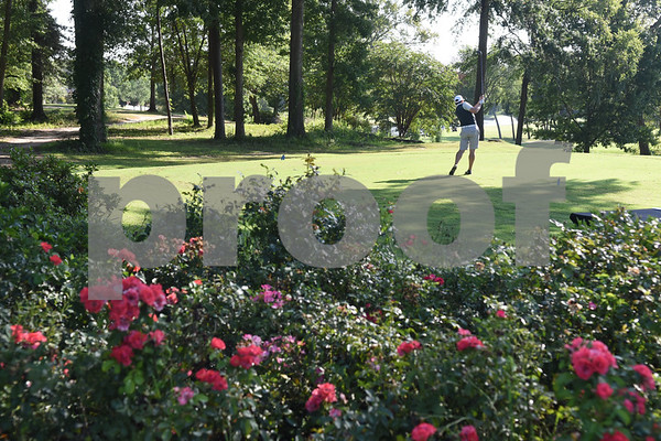 Tim Anthony tees during the Hollytree County Club Men's Club Championship Saturday August 6, 2016.  (Sarah A. Miller/Tyler Morning Telegraph)