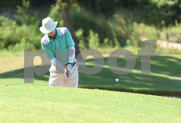 John Holt of Flint takes a shot during the Hollytree County Club Men's Club Championship Saturday August 6, 2016.  (Sarah A. Miller/Tyler Morning Telegraph)