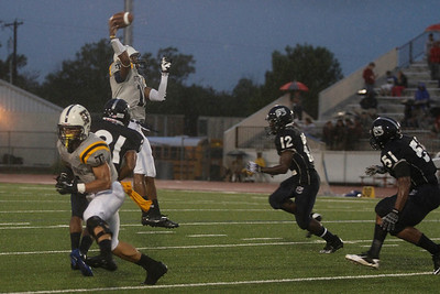 Stony Point's Damian Lindley throws the ball against Shoemaker Thursday at Leo Buckley Stadium.