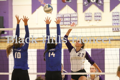 9-13-18 Hot Springs volleyball @ Belle Fourche