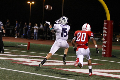 McNeil's Ryan Murphy catches the ball for a touchdown against Del Valle Friday at Veterans Stadium.