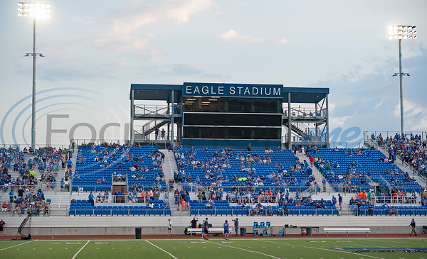 The renovated Eagles Stadium hosted its first game, Lindale High School vs. Van, on Friday night Sept. 13, 2019.  (Sarah A. Miller/Tyler Morning Telegraph)