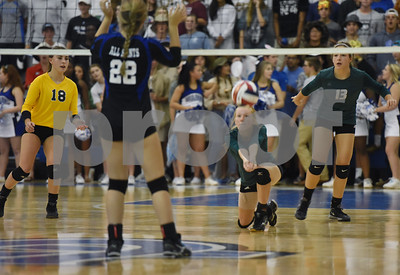 Bishop Thomas K. Gorman's Lauren Fanning bumps the ball during their game at All Saints Episcopal School Thursday Sept. 15, 2016.  (Sarah A. Miller/Tyler Morning Telegraph)