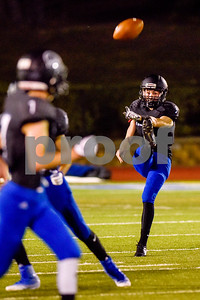 All Saints punter Russell Wynne (3) punts the ball during a high school football game at All Saints Episcopal School in Tyler, Texas, on Friday, September 15, 2017. (Chelsea Purgahn/Tyler Morning Telegraph)