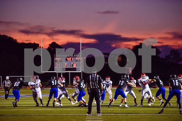 Game action between All Saints and Alba Golden during a high school football game at All Saints Episcopal School in Tyler, Texas, on Friday, September 15, 2017. (Chelsea Purgahn/Tyler Morning Telegraph)