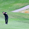 CU's Beau Schoolcraft hits his second shot on hole number 2 during the second day of the Mark Simpson Colorado Invitational at the Colorado National Golf Club in Erie, Colorado September 25, 2012.  DAILY CAMERA/ MARK LEFFINGWELL