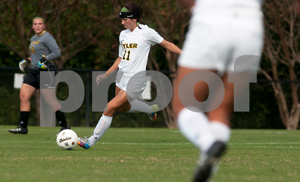 photo by Sarah A. Miller/Tyler Morning Telegraph  Tyler Junior College's Rilee Miller (11) controls the ball during their game against  Western Texas College Friday Sept. 26, 2014 in Tyler.