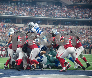 Dallas Cowboy's Joseph Randle (21) scores a touchdown during their game against the Atlanta Falcons at AT&T Stadium Sunday Sept. 27, 2015.  (Sarah A. Miller/Tyler Morning Telegraph)