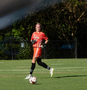 Tyler Junior College's goalie Sydney Malmstrom looks for a teammate to make a pass to during their soccer match against Jacksonville College on Tuesday Sept. 3, 2019 at Pat Hartley Field.  (Sarah A. Miller/Tyler Morning Telegraph)